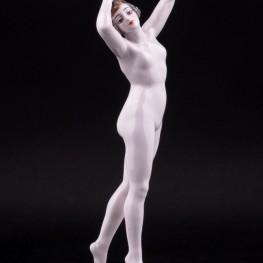 Фарфоровая статуэтка девушки Обнаженная, Dressel, Kister & Cie, Германия, нач. 20 в.