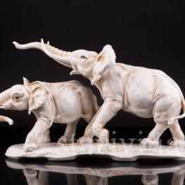Статуэтки животных Слоны, Karl Ens, Германия, сер. 20 в.
